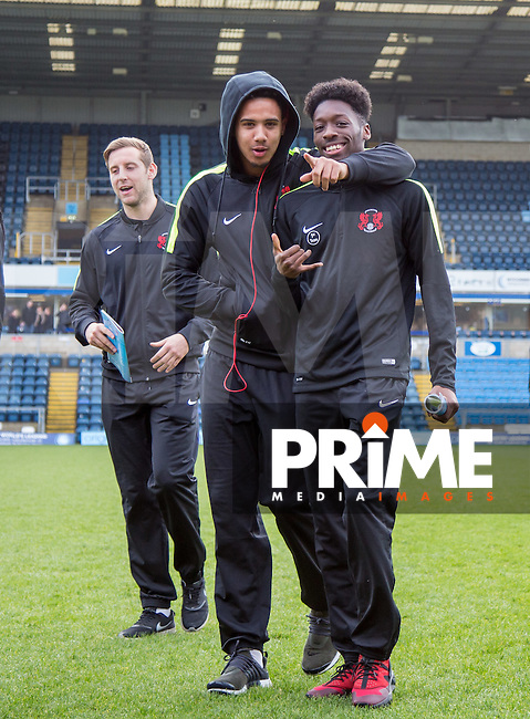 Cole Kpekawa of Leyton Orient & Blair Turgott (right) of Leyton Orient during the Sky Bet League 2 match between Wycombe Wanderers and Leyton Orient at Adams Park, High Wycombe, England on 23 January 2016. Photo by Massimo Martino / PRiME Media Images.