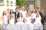 Fossa NS pupils after receiving their First Holy Communion in the Church of the Immaculate Conception on Saturday front row l-r: Michelle Moynihan, Alyssa O'Sullivan, Elizabeth O'Neill, Molly Kelly. Back row: Ellen Clifford, Mick Clifford, Erica Teahan, Sean Talbot, Rory Williams, Fiona Kissane, Cian O'Shea, Maeve O'Brien, Stephen Daly and Paul Myers   Copyright Kerry's Eye 2008