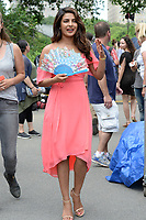 www.acepixs.com<br /> July 11, 2017 New York City<br /> <br /> Priyanka Chopra filming the movie 'Isn't It Romantic' in Central Park on July 11, 2017 in New York City.<br /> <br /> Credit: Kristin Callahan/ACE Pictures<br /> <br /> <br /> Tel: (646) 769 0430<br /> e-mail: info@acepixs.com