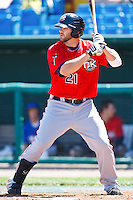 Mitch Moreland May 5th, 2010; Oklahoma CIty Redhawks vs Omaha Royals at historic Rosenblatt Stadium in Omaha Nebraska.  Photo by: William Purnell/Four Seam Images