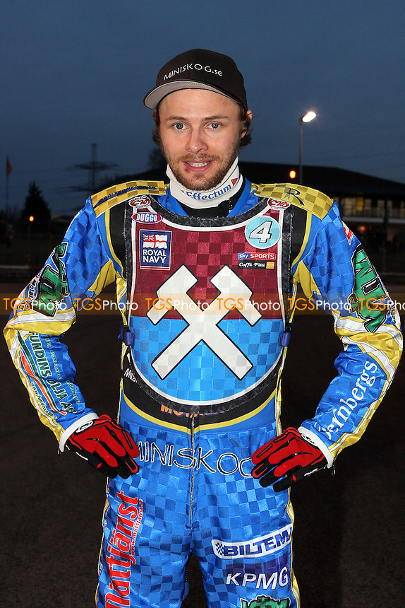 Jonas Davidsson back in Lakeside colours - Lakeside Hammers vs Wolverhampton Wolves - Elite League Speedway at Arena Essex Raceway - 01/04/11 - MANDATORY CREDIT: Gavin Ellis/TGSPHOTO - Self billing applies where appropriate - Tel: 0845 094 6026