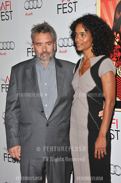 "Director Luc Besson & wife Virginie Besson-Silla at the premiere of their new movie ""The Lady"", part of the 2011 AFI Fest, at Grauman's Chinese Theatre, Hollywood..November 4, 2011  Los Angeles, CA.Picture: Paul Smith / Featureflash"
