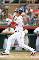 Bryce Harper drives in the Scottsdale Scorpions second run in the second inning for the Scottsdale Scorpions, who defeated the Peoria Javelinas, 3-2, to win the Arizona Fall League championship at Scottsdale Stadium, Scottsdale, AZ - 11/20/2010.Photo by:  Bill Mitchell/Four Seam Images..