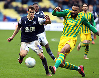 Semi Ajayi of West Bromwich Albion and Jayson Molumby of Millwall during Millwall vs West Bromwich Albion, Sky Bet EFL Championship Football at The Den on 9th February 2020