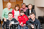 Luke Graham with his family at his home in Dingle on Monday evening. Front John and Rob Graham. Back l-r: Eileen O'Grady,Margaret,Paudie and Josephine O'Grady.