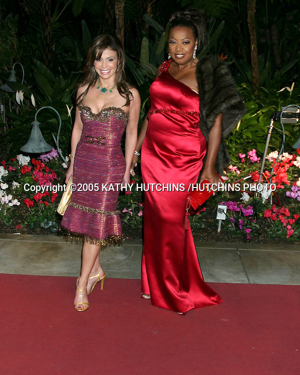 PAULA ABDUL AND STAR JONES.CLIVE DAVIS ANNUAL PRE-GRAMMY PARTY.BEVERLY HILLS HOTEL.BEVERLY HILLS, CA.FEBRUARY 12 , 2005.©2005 KATHY HUTCHINS /HUTCHINS PHOTO.