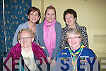 ATTENDANCE: In attendance at the Kerry Volunteer Centre Seminar and coffee morning werte, Front ;l-r: Mary O'Brien (Tidy Town), Mary Heaslip (Cub Scouts). Back Maureen Murphy  and  Claire Tobinb (Tir na no?g) and Joan O'Regan (Kerry Volunteers)................. . ............................... ..........