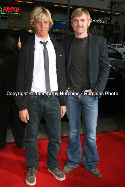 "Rick Schroeder & Son.""Leatherheads"" Premiere.Grauman's Chinese Theater.Los Angeles, CA.March 31, 2008.©2008 Kathy Hutchins / Hutchins Photo"