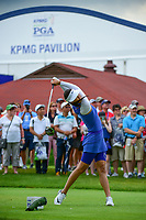 Michelle Wie (USA) watches her tee shot on 10 during Friday's round 2 of the 2017 KPMG Women's PGA Championship, at Olympia Fields Country Club, Olympia Fields, Illinois. 6/30/2017.<br /> Picture: Golffile | Ken Murray<br /> <br /> <br /> All photo usage must carry mandatory copyright credit (&copy; Golffile | Ken Murray)