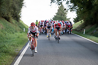 Fabio Felline (ITA/Trek-Segafredo) taking some distance<br /> <br /> 60th Grand Prix de Wallonie 2019<br /> 1 day race from Blegny to Citadelle de Namur (BEL / 206km)<br /> <br /> ©kramon