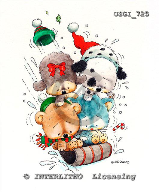 GIORDANO, CHRISTMAS ANIMALS, WEIHNACHTEN TIERE, NAVIDAD ANIMALES, paintings+++++,USGI725,#XA#