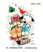 GIORDANO, CHRISTMAS ANIMALS, WEIHNACHTEN TIERE, NAVIDAD ANIMALES, paintings+++++,USGI725,#XA#