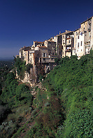 France, Tourrettes-sur-Loup, Cote d' Azur, Provence, Alpes-Maritimes, Europe, Scenic view of the hilltop village of Tourrettes-s-Loup in the Provencal countryside of France.