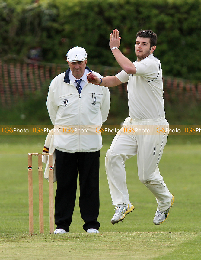 C Grote in bowling action for Noak Hill 2nds - Noak Hill Taverners 1st XI vs Noak Hill Taverners 2nd XI - Lords International League Cricket - 01/05/10 - MANDATORY CREDIT: Gavin Ellis/TGSPHOTO - Self billing applies where appropriate - Tel: 0845 094 6026