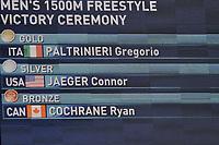 Tabellone PALTRINIERI Gregorio ITA Gold Medal Men's 1500m Freestyle <br /> Day17 09/08/2015 Kazan Arena <br /> Swimming Nuoto <br /> XVI FINA World Championships Aquatics  <br /> Kazan Tatarstan RUS <br /> Photo Andrea Staccioli/Deepbluemedia/Insidefoto