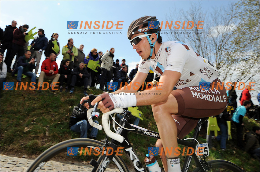 Romain Lemarchand of AG2R  .OUDENAARDE AUDENARDE 1/4/2012.Ciclismo Giro delle Fiandre.Foto Insidefoto / Photo News / Panoramic.ITALY ONLY .ITALY ONLY