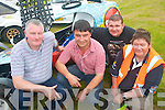 6337-6339..AUTOCROSS: Enjoying the Jimmy Devane Memorial Munster Championship AutoCross at Firies last Saturday organised by Killarney and District motor club were l-r: Joe O'Sullivan (Killarney), Liam Cronin (Milltown), Dave Griffin (Castlemaine) and Dan McSweeney (Killarney).