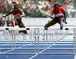 11.09.2011, Olympic Stadium / Olympiastadion, Berlin, GER, ISTAF 2011, im Bild Kellie WELLS (USA) und Dawn HARPER (USA) in der Disziplin Frauen - 100M Huerden // Kellie WELLS (USA) and Dawn HARPER (USA) competing in Women - 100M Hurdles during the ISTAF 2011 held in Berlin, GER, EXPA Pictures © 2011, PhotoCredit: EXPA/ S. Kiesewetter