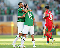 Rafa Marquez and Mario Mendez of Mexico after the game. Mexico defeated Iran 3-1 during a World Cup Group D match at Franken-Stadion, Nuremberg, Germany on Sunday June 11, 2006.