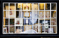 Craft shop window in Burford, Cotswolds, United Kingdom