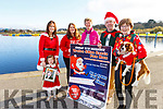 The Tralee 5k Santa Fun Run launched in aid of Crumlins Children Hospital going on Sunday 16th of December.<br /> L-r, Paige and Mags Quillinan,  Aoife Moynihan, Maura O'Sullivan, Martin and Deirdre Moore with Jazz the dog.