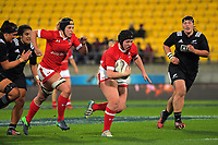 Daleaka Menin takes the ball up during the 2017 International Women's Rugby Series rugby match between the NZ Black Ferns and Canada at Westpac Stadium in Wellington, New Zealand on Friday, 9 June 2017. Photo: Dave Lintott / lintottphoto.co.nz