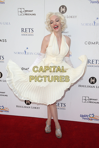 LOS ANGELES, CA - MAY 19: Norma Jean impersonator, at Uplift Family Services At Hollygrove's 7th Annual Norma Jean Gala at Hollygrove Campus in Los Angeles, California on May 19, 2018. <br /> CAP/MPIFS<br /> &copy;MPIFS/Capital Pictures
