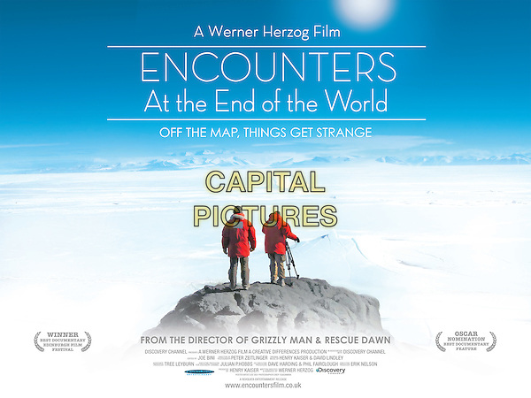 POSTER ART.in Encounters at the End of the World.*Filmstill - Editorial Use Only*.CAP/PLF.Supplied by Capital Pictures.