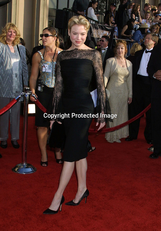 ©2003 KATHY HUTCHINS/HUTCHINS PHOTO.9TH ANNUAL SCREEN ACTORS GUILD AWARDS.SHRINE EXPOSITION CENTER.LOS ANGELES, CA  3/9/03.RENEE ZELLWEGER