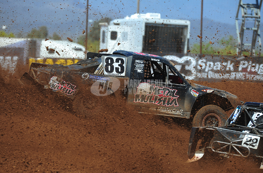 Apr 16, 2011; Surprise, AZ USA; LOORRS driver Steve Barlow (83) during round 3 at Speedworld Off Road Park. Mandatory Credit: Mark J. Rebilas-.
