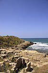 Israel, Carmel Coast, Tel Dor, site of biblical Dor, one of the largest cities of ancient Israel