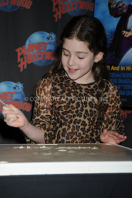 "WWW.ACEPIXS.COM . . . . . ....March 18 2008, New York City....Actress Rachel Covey poses maked a handprint to promote the release of ""Enchanted"" on DVD at Planet Hollywood in Times Square....Please byline: KRISTIN CALLAHAN - ACEPIXS.COM.. . . . . . ..Ace Pictures, Inc:  ..(646) 769 0430..e-mail: info@acepixs.com..web: http://www.acepixs.com"