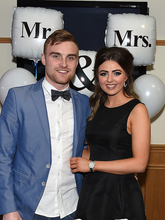 Paudy Clarke and Niamh McMahon who took part in the Mr & Mrs competition in St Mary's GFC in Ardee. Photo:Colin Bell/pressphotos.ie