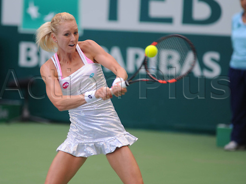 22.07.2015. Istanbul, Turkey. WTA BNP Paribas Womens tennis championships.  day 2 match between Bojona Jovanovski (SRB) and Urszula Radwanska (POL) at Garanti Koza Arena in Istanbul on July 22 2015. Match score: Radwanska 2 - Jovanovski 0. (6-3) (6-2) Pictured: Urszula Radwanska (POL)