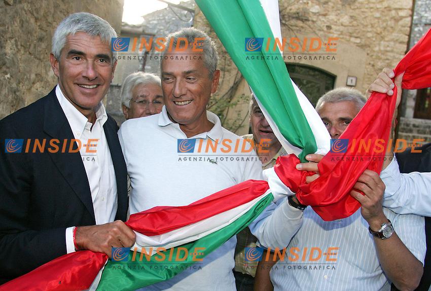 PIER FERDINANDO CASINI E FRANCESCO RUTELLI<br /> Labro, Rieti 02/09/2010 Festa Nazionale di Alleanza per l'Italia.<br /> Photo Zucchi Insidefoto