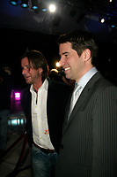 Rejean Thomas (L) and Andre Boisclair, PQ Leader (R)<br /> attend the Cirque du Soleil - DELIRIEM premiere  in Montreal , February 26, 2006<br /> photo : (c) by JP Proulx - Images Distribution
