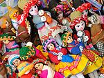 Handmade dolls at shop in San Pedro de Atacama, Chile.