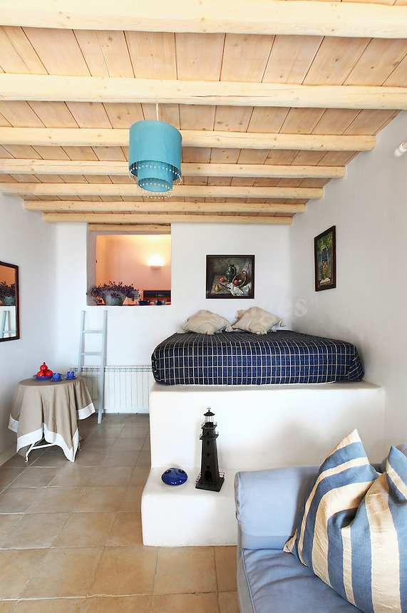 cycladic built-in bed