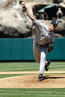 Anaheim, CA July 24, 2005: Mike Mussina  In a MLB game played between the New York Yankees and the Los Angeles AngelsAnaheim, CA July 24, 2005 In a MLB game played between the New York Yankees and the Los Angeles Angels