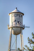 Watertower on the Route 66 town of Depew Oklahoma.