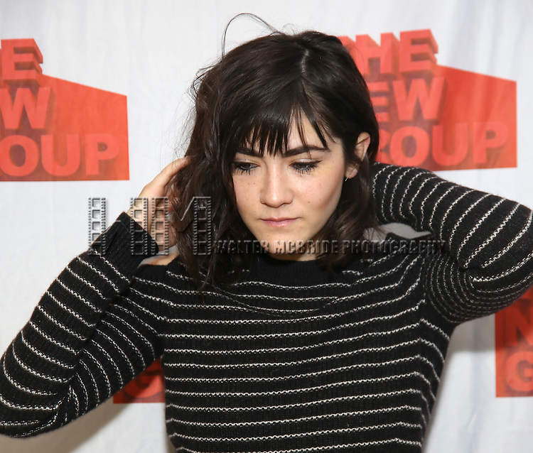 """Isabelle Fuhrman attends the New Group's """"All the Fine Boys"""" rehearsal photocall at their rehearsal studio on February 3, 2017 in New York City."""