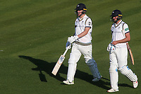 Close of play. Yorkshire batsmen, Gary Ballance and Jack Leaning will resume their innings on day three during Kent CCC vs Yorkshire CCC, Specsavers County Championship Division 1 Cricket at the St Lawrence Ground on 15th May 2019
