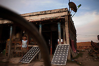 India: Photovoltaic technology in rural areas.