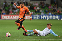 Melbourne, 3 December 2016 - DIMITRI PETRATOS (23) of Brisbane Roar runs with the ball in the round 9 match of the A-League between Melbourne City and Brisbane Roar at AAMI Park, Melbourne, Australia. Melbourne drew with Brisbane 1-1 (Photo Sydney Low / sydlow.com)