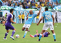 MONTERIA - COLOMBIA, 22-07-2018: Elvis Gonzalez jugador de Jaguares en acción durante partido entre Jaguares FC y Once Caldas por la fecha 1 de la Liga Águila II 2018 jugado en el estadio Municipal de Montería. / Elvis Gonzalez player of jaguares in action during the match between Jaguares FC and Once Caldas for the date 1 of the Liga Aguila II 2018 at the Municipal de Monteria Stadium in Monteria city. Photo: VizzorImage / Andres Felipe Lopez / Cont