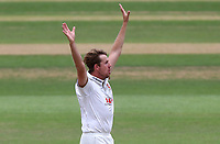 Matt Quinn of Essex celebrates taking the wicket of Samit Patel during Nottinghamshire CCC vs Essex CCC, Specsavers County Championship Division 1 Cricket at Trent Bridge on 10th September 2018