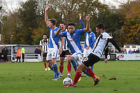 Padraig Amond of Grimsby Town scores their first goal during the Vanarama National League match between Eastleigh and Grimsby Town at The Silverlake Stadium, Eastleigh, Hampshire on Nov 21, 2015. (Photo: Paul Paxford/PRiME)