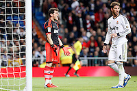 Real Madrid CF vs Athletic Club de Bilbao (5-1) at Santiago Bernabeu stadium. The picture shows Iker Casillas and Sergio Ramos. November 17, 2012. (ALTERPHOTOS/Caro Marin) NortePhoto