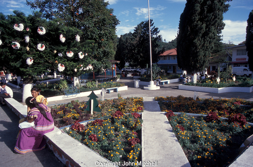 Main square in the mountain town of Boquete, Panama
