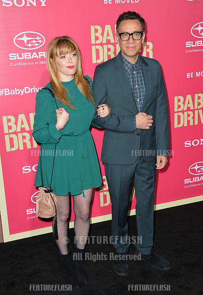 Natasha Lyonne &amp; Fred Armisen at the Los Angeles premiere for &quot;Baby Driver&quot; at the Ace Hotel Downtown. <br /> Los Angeles, USA 14 June  2017<br /> Picture: Paul Smith/Featureflash/SilverHub 0208 004 5359 sales@silverhubmedia.com